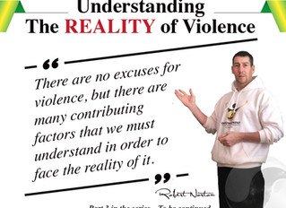 Understand the reality of violence, but never live in the denial of it?