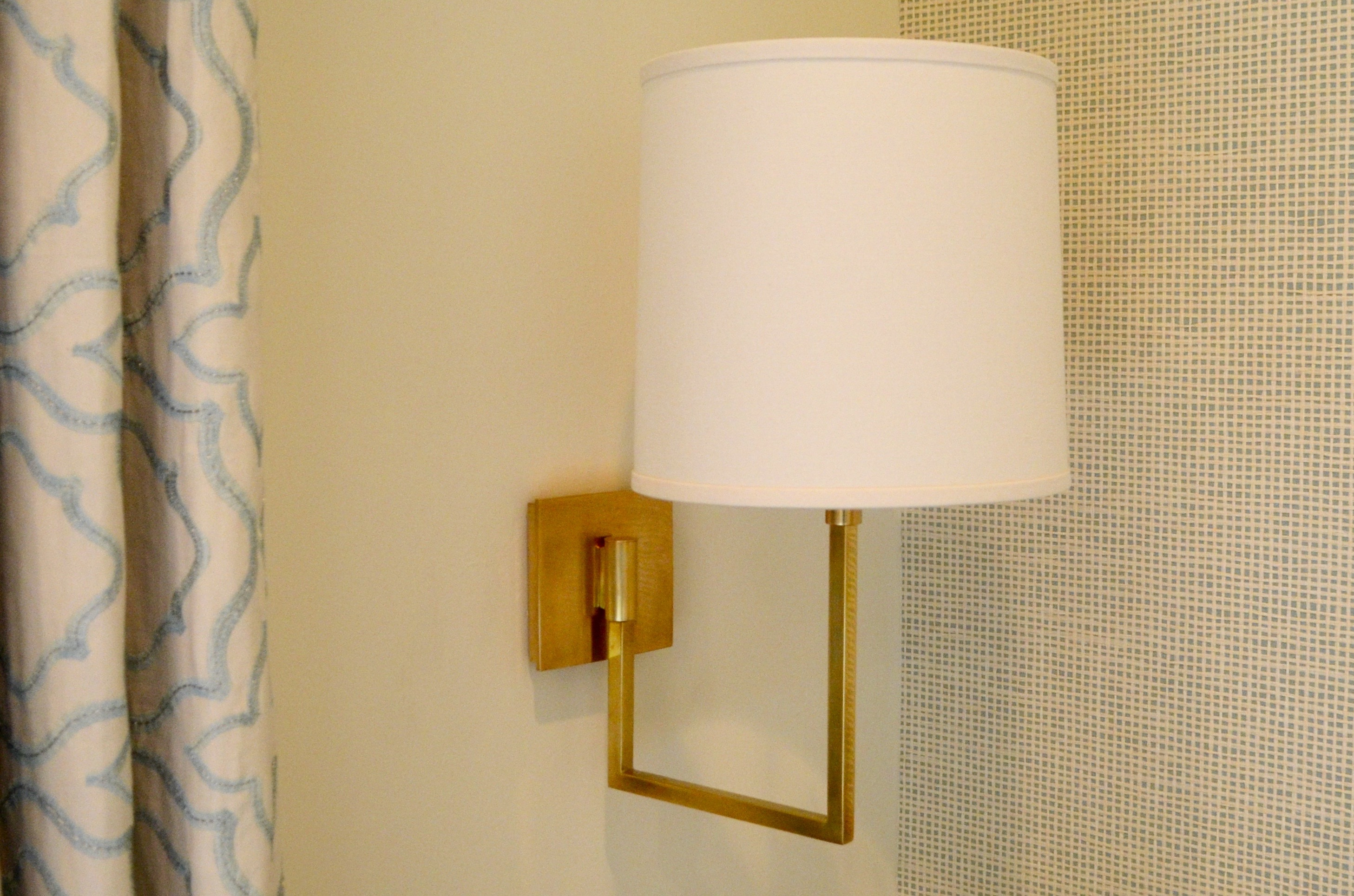 Lamp/Wallcovering/Drapery Detail