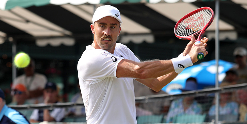 Steve Johnson at the 2019 Hall of Fame Open