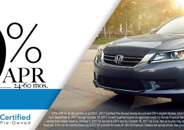 Honda CRV Certified Pre-owned digital ad