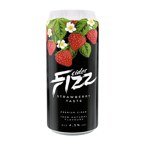 Fizz Strawberry Cider CAN 24x500ml