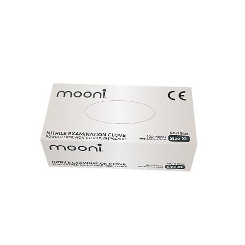 Mooni Blue Nitrile Gloves (Box of 100)