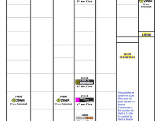 Plannings Aout