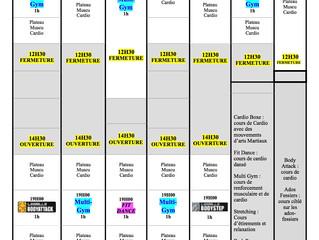Planning Allégé Aout
