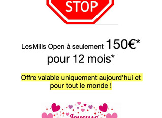 Offre exceptionnelle St Valentin