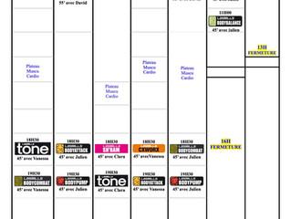 Planning du 22/6 au 31/8