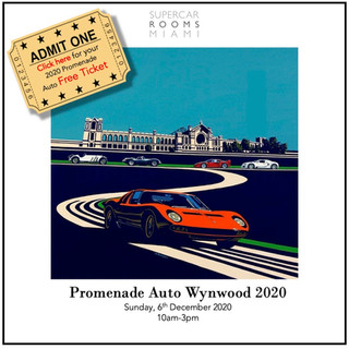 Promenade Auto Wynwood 2016 with guests: Les Dunham