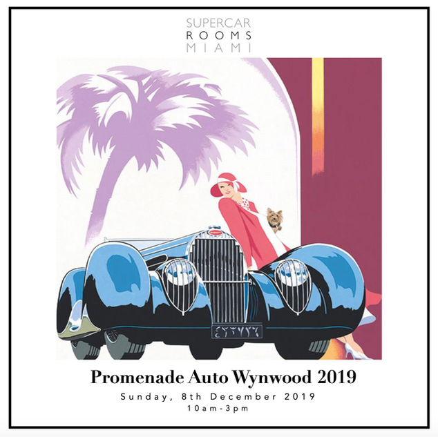 Promenade Auto Wynwood 2019 with Guest: Michel and Caroline Bugatti
