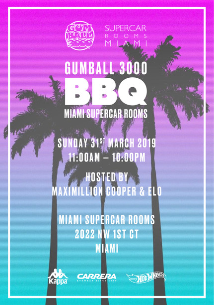 Gumball 3000 x Miami Supercar Rooms BBQ