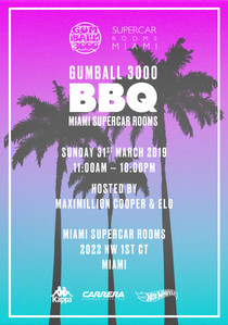 Gumball 3000 x Miami Supercar Rooms BBQ