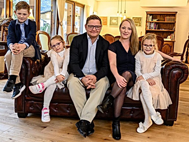 Familie Seiler, Ihre Gastgeber im Hotel Alfa Soleil in Kandersteg