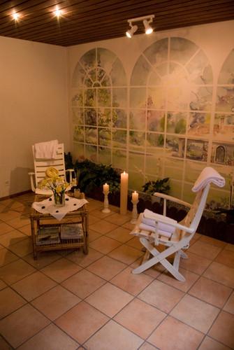Sauna im Hotel Alfa Soleil in Kandersteg