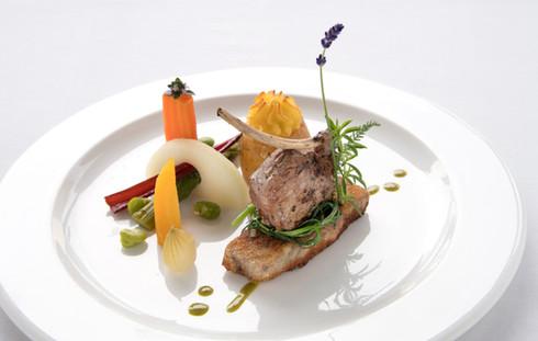 Abendessen in Nico's Restaurant im Hotel Alfa Soleil in Kandersteg im Berner Oberland