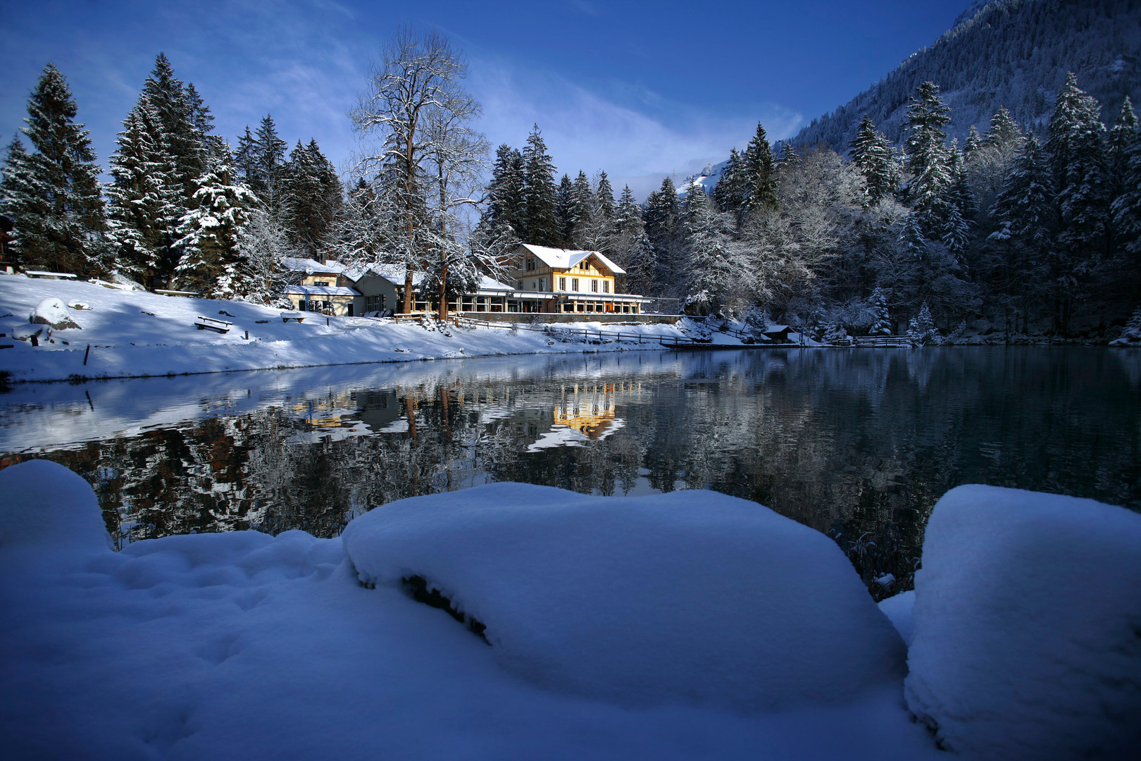 Blausee Winter