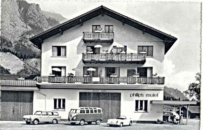 Das Hotel Alfa Soleil in Kandersteg in seinen Anfängen
