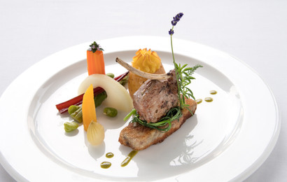 Abendessen in Nico's Restaurant im Hotel Alfa Soleil in Kandersteg