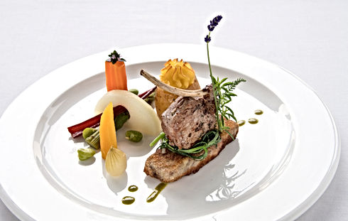 Abendessen in Nico's Restaurant im Alfa Soleil in Kandersteg im Berner Oberland