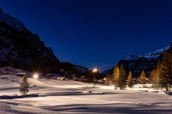 Kandersteg Langlauf Nachtloipe