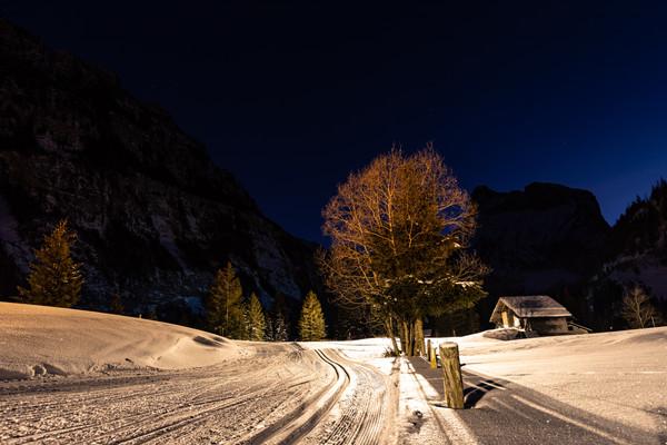 Kandersteg Langlauf Nachts