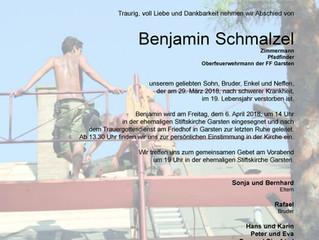 Trauer um Benjamin Schmalzel