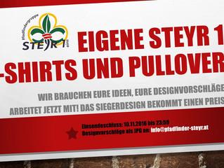 Designwettbewerb: Eigene Steyr1 T-Shirts und Pullover