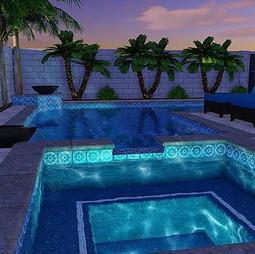 3-D pool 🏊🏼♂️ remodel design provides