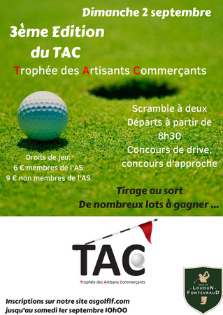 Dimanche 2 septembre: 3ème Edition du Trophée des Artisans Commerçants (TAC)