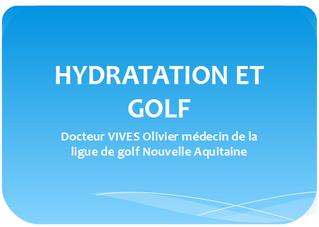 Infos médicales de la Ligue de Golf Nouvelle Aquitaine.