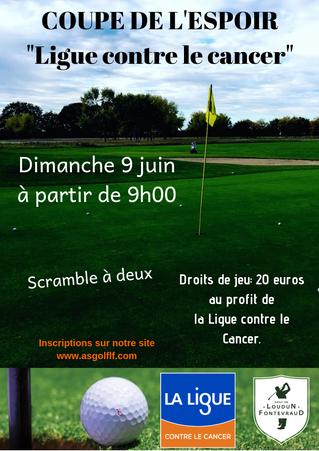 Coupe de l'Espoir (Ligue contre le Cancer) le dimanche 9 juin.