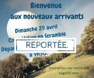 """Compétition reportée: """"Bienvenue aux nouveaux arrivants""""."""