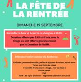"""Rappel : """"Fête de la rentrée"""" le dimanche 19 septembre."""
