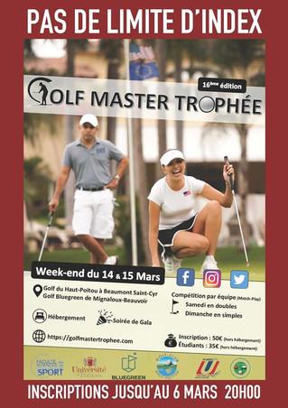 Info : Golf Master Trophée 14 & 15 mars 2020