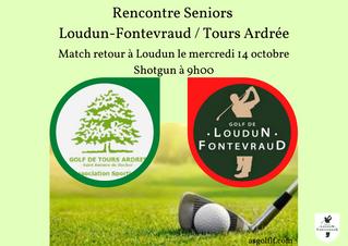 Challenge senior Tours Ardrée/Loudun Fontevraud match retour le mercredi 14 octobre à Loudun.