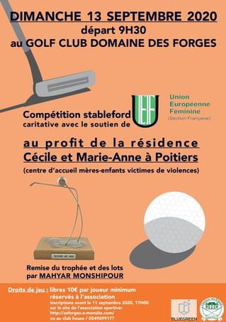 Compétition de golf UEF le 13 septembre 2020 au Golf Club Domaine des Forges.