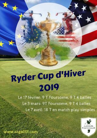 Ryder Cup d'hiver : journée des Matchplays, le dimanche 7 avril.