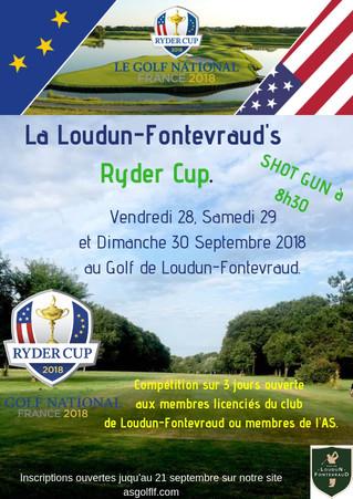 La Loudun-Fontevraud's Ryder Cup: pendant que les champions se préparent, nous aussi ! Rendez-vo