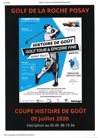 Infos : Compétition Histoire de Goût Golf La Roche Posay