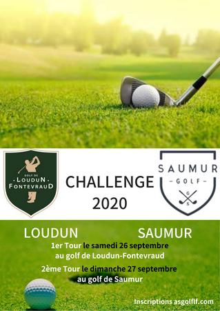 RAPPEL : Challenge Loudun / Saumur les 26 et 27 septembre prochains.