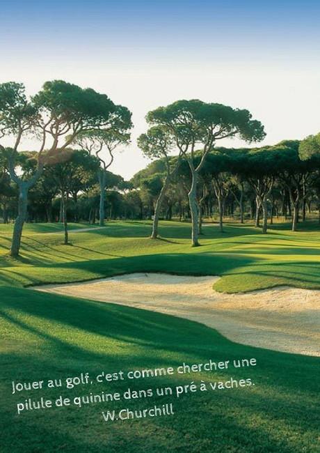 Jouer au golf ...