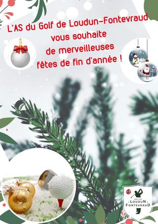 L'AS du golf de Loudun-Fontevraud vous souhaite de merveilleuses fêtes de fin d'année.