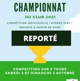 REPORT du Championnat du Club.