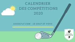 Le calendrier des compétitions 2020 est en ligne.