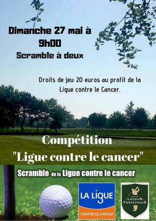 Information aux participants de La compétition au profit de la Ligue contre le cancer du dimanche 27