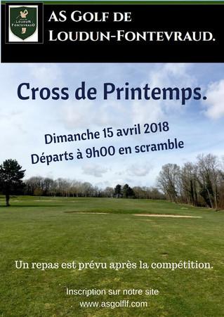 Cross de Printemps, le dimanche 15 avril 2018.