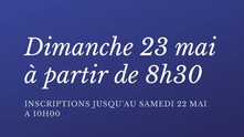 Notre première compétition : Trophée Handicap le dimanche 23 mai à partir de 8h30.