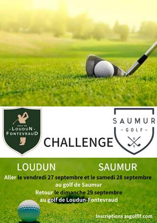 Information : Consulter votre heure de départ Challenge Loudun - Saumur ALLER à Saumur
