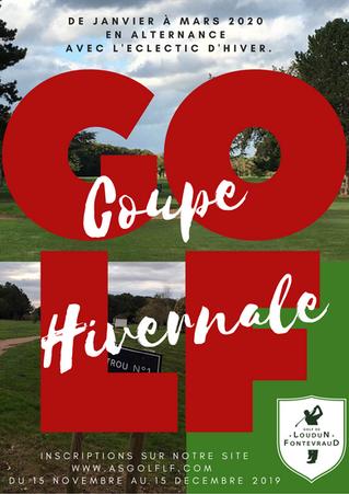 RAPPEL : Coupe Hivernale 2020, inscriptions jusqu'au 15 décembre 2019.