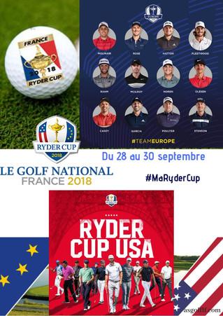 La FFGOLF vous informe: Racontez-nous votre Ryder Cup avec #MaRyderCup !