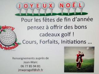 """Message du Pro: """"Pour Noël, respirez golf!"""""""