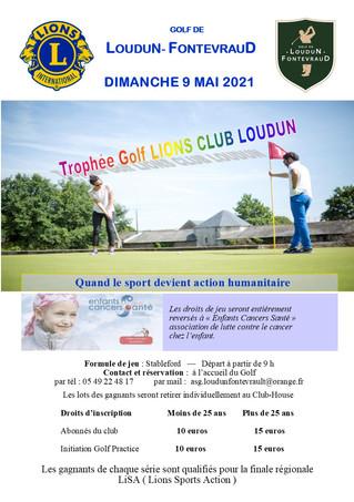 Trophée Golf Lions Club Loudun.